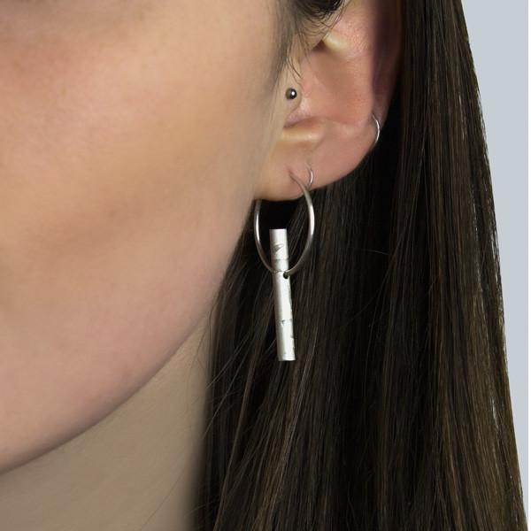 Laura Nelson Contemporary Jewellery - Carse Tube Hoops
