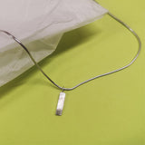Scrap Pendant made using silver offcuts by Laura Nelson - recycled jewellery