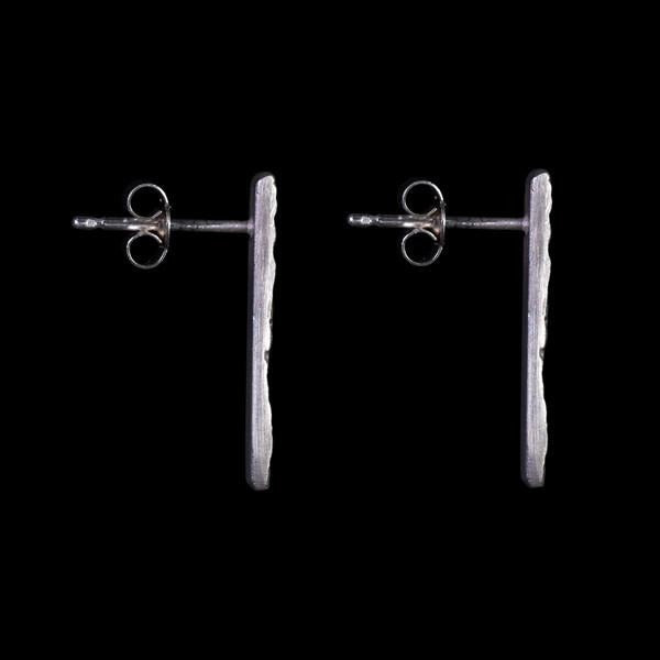 Root Studs - Solid cast sterling silver by Laura Nelson