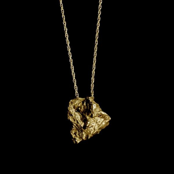 Pulp Necklace by Laura Nelson in Sterling Silver or Gold Plated Sterling Silver - Contemporary Jewellery