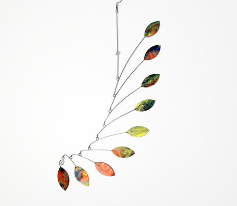 Mobile in Orange Lemon Blue Leaf Wave Style for Modern Home