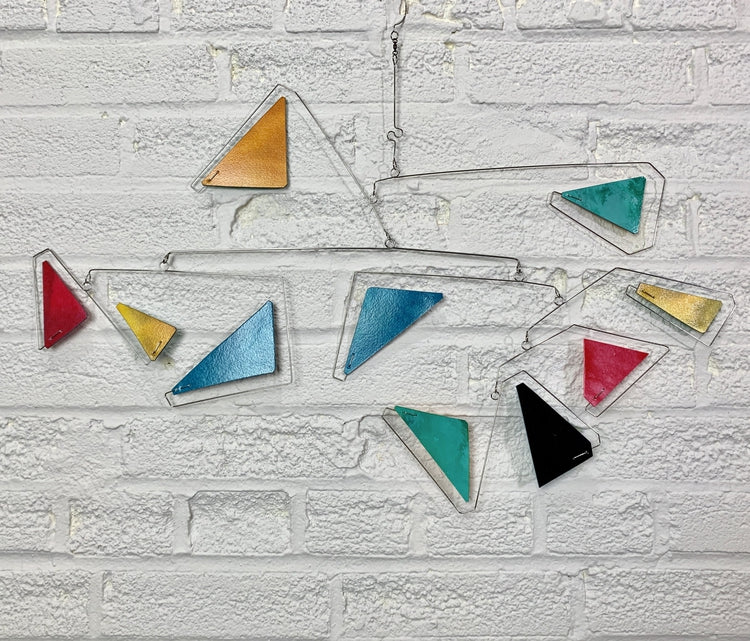 Mobile Art Hand Painted Triangle