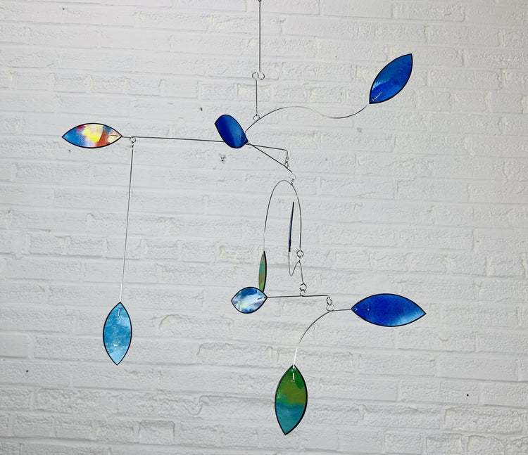 Nursery Mobile Kinetic Art Leaf Wave Baby Mobile