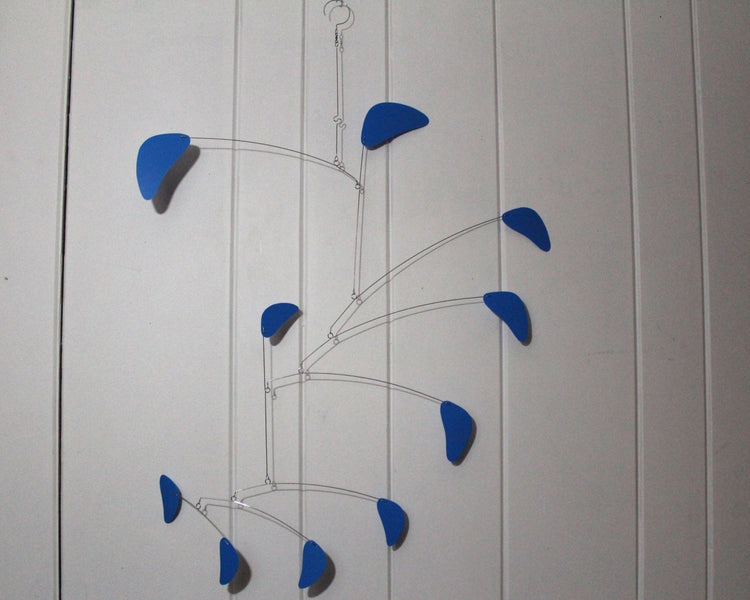 hanging mobile blue large