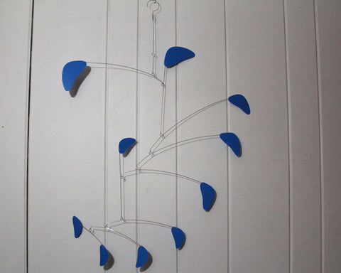 Blue Kinetic Mobile Sculpture - Large Rang Style