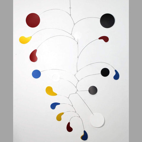 Large Mobile For Home or Business with High Ceilings - Calder Inspired Kinetic Art Mobile By Skysetter
