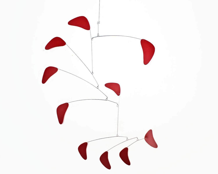 hanging mobile red large modern