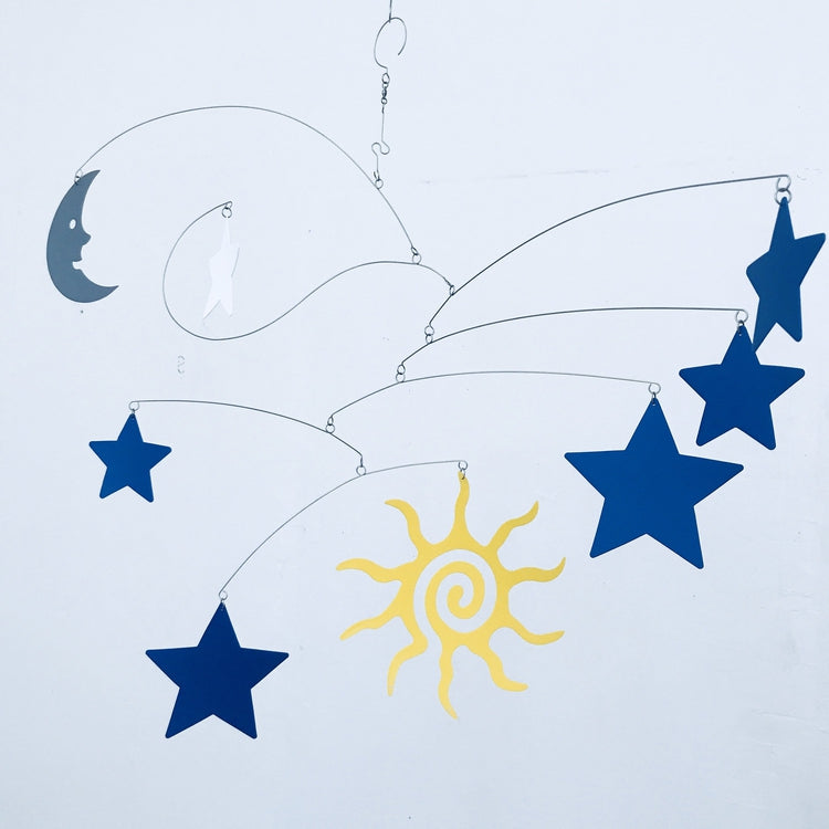 Nursery Mobile Art Sun Moon and Stars