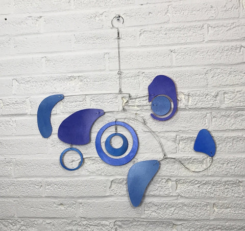 Mobile Art Hand Painted Large Pieces Interesting Movement Kinetic Sculpture