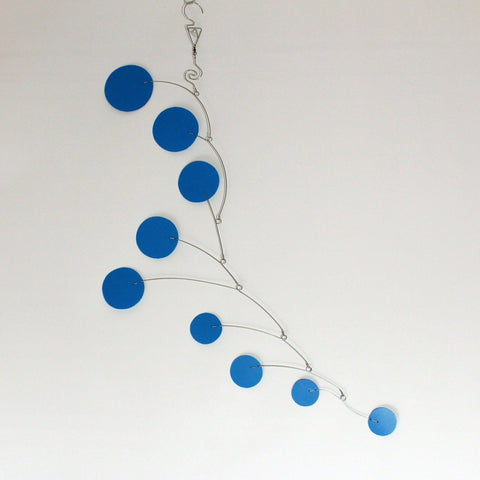 Blue Baby Mobile Art Kinetic Sculpture