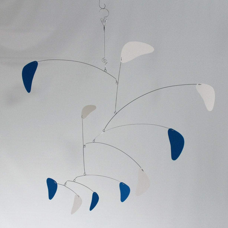large Mobile for the Adult in Blue and White