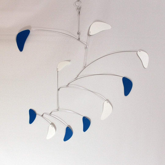 Blue and White Modern Decorator Mobile