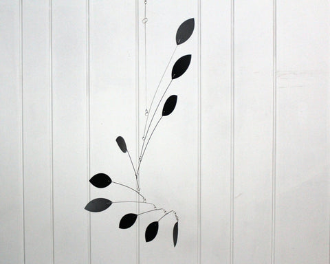 Black Mobile hanging leaf
