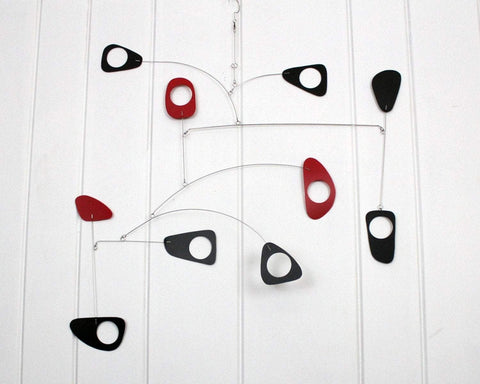 Black and Red Art Deco Mobile Sculpture