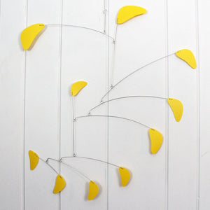 Lemon Yellow Rang Style Mobile for the Nursery or School