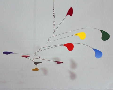 Kinetic Art Mobile USA in Rainbow for Baby