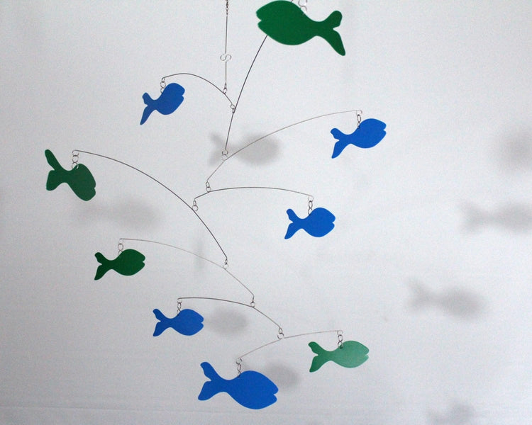 fish mobile blue green