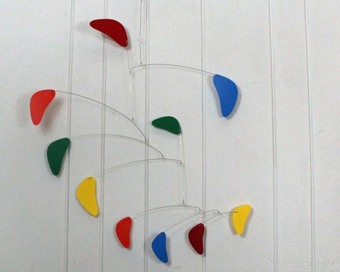 Hanging Mobile Large Sculpture USA in Rang Style Rainbow