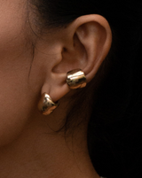 Faris Bubble Ear Cuff Small in Bronze