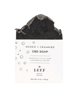 Leef Organics CBD Soap in Charcoal & Clay