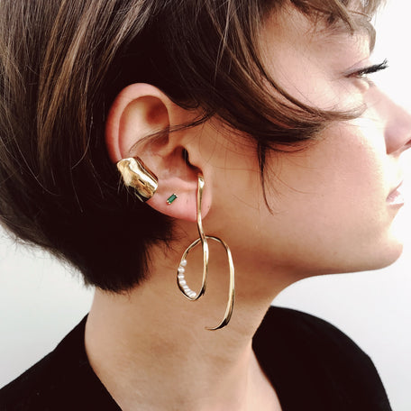 Faris Boa Earrings Bronze