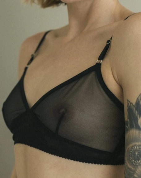 Whisper Retro Bralette (Black)