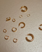 Dear Neighbor Gold Simple Hoops