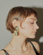 Faris Warp Earrings Bronze