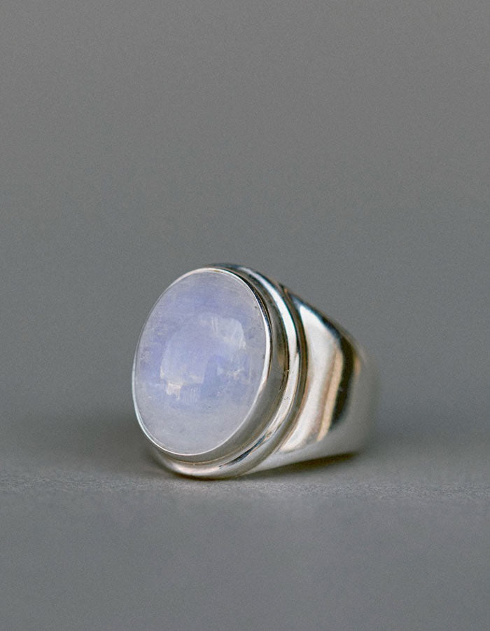 Moonstone & Sterling Silver Ring