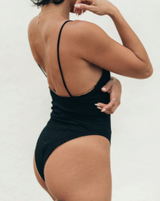 Sie Swim Carter Black Bodysuit