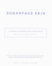 Calming Lavender Collagen Mask by Sugarface Skin