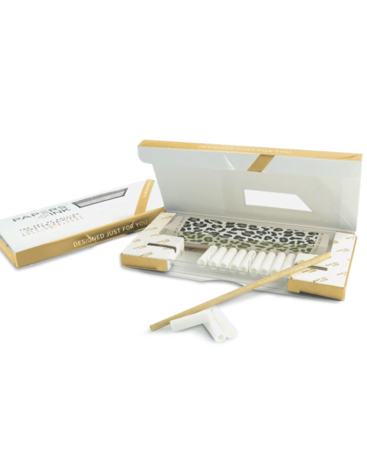 Papers + Ink Rolling Papers Kit in Leopard Chuchu