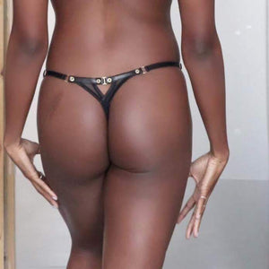 KARMA LEATHER THONG - LINGERIE