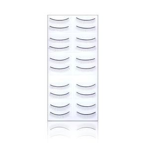 PRACTISE EYELASHES FOR MANNEQUIN HEAD - 10 PAIRS