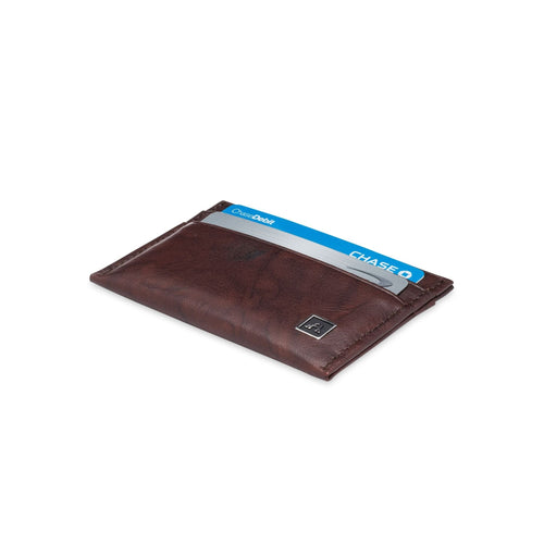 Minimalist Credit Card Wallet - Buffalo Calf Crunch Leather