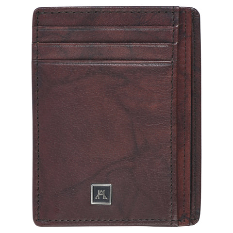 Front Pocket Wallet - Buffalo Calf Crunch Leather