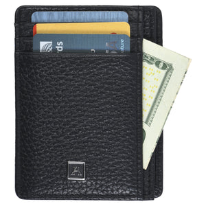 Front Pocket Wallet - Pebble Cowhide Leather