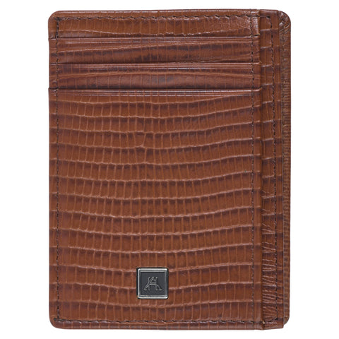 Front Pocket Wallet - Cow Lizard Leather