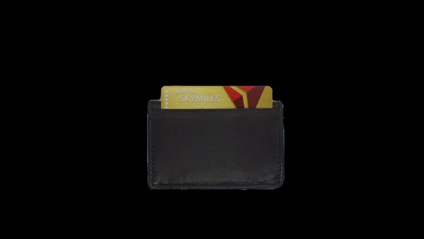 Bifold Pouch Wallet - Lamb Skin Nappa Leather