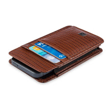 Load image into Gallery viewer, Phone Wallet Medium - Cow Lizard Leather