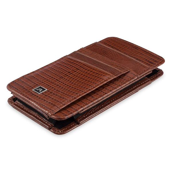 Phone Wallet Large - Cow Lizard Leather