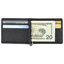 Load image into Gallery viewer, Money Clip - Pebble Cowhide Leather
