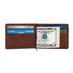 Money Clip - Cow Lizard Leather