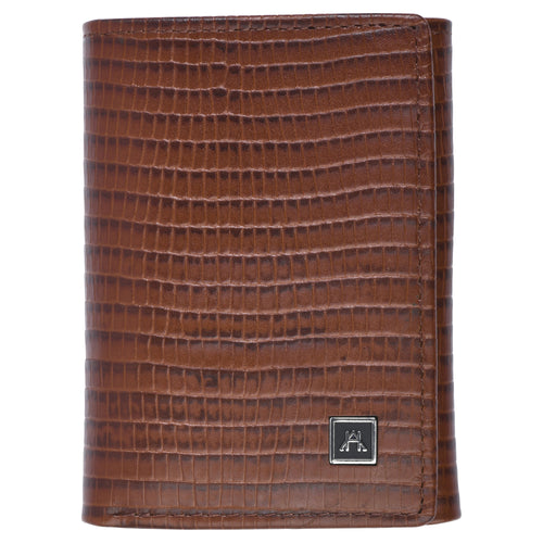 Threefold Wallet - Cow Lizard Leather
