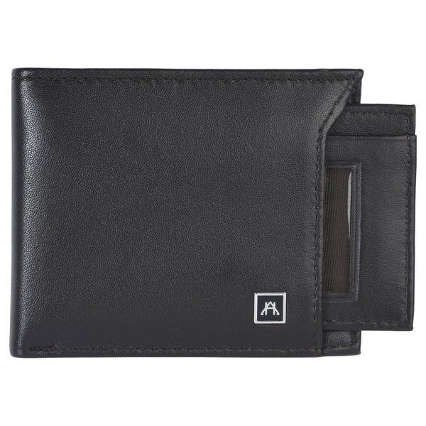 Removable ID Billfold Wallet - Lamb Skin Nappa Leather