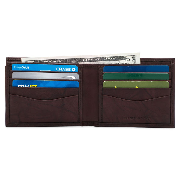 Removable ID Billfold Wallet - Buffalo Calf Crunch Leather