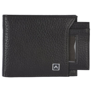 Removable ID Billfold  Wallet - Pebble Cowhide Leather
