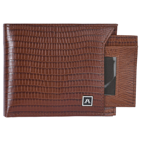 Removable ID Billfold Wallet - Cow Lizard Leather