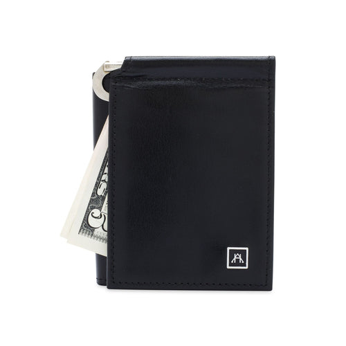 The Money Clip Wallet - Glazed Buffalo Calf Leather