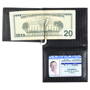 The Money Clip Wallet - Cow Lizard Leather